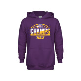 Youth Purple Fleece Hoodie-2017 ASC Champs - Mens Basketball Half Ball