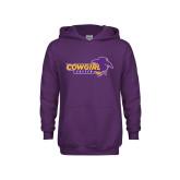Youth Purple Fleece Hood-Cowgirls Soccer