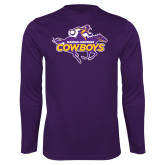 Syntrel Performance Purple Longsleeve Shirt-Primary Logo
