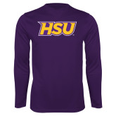 Performance Purple Longsleeve Shirt-HSU