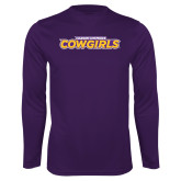 Syntrel Performance Purple Longsleeve Shirt-Hardin-Simmons Cowgirls