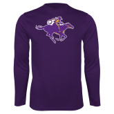 Performance Purple Longsleeve Shirt-Cowgirl Riding