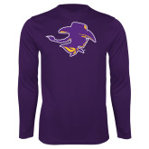 Performance Purple Longsleeve Shirt-Cowgirl Head