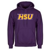 Purple Fleece Hoodie-HSU