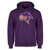 Purple Fleece Hoodie-Mens Basketball