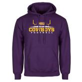 Purple Fleece Hoodie-Cowboys Football w/ Field
