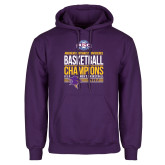 Purple Fleece Hoodie-2017 ASC Champions - Mens Basketball Stacked