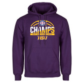 Purple Fleece Hoodie-2017 ASC Champs - Mens Basketball Half Ball