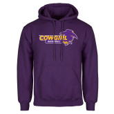 Purple Fleece Hoodie-Cowgirls Basketball
