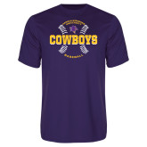 Performance Purple Tee-HSU Cowboys Baseball w/ Seams
