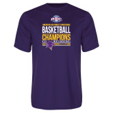 Performance Purple Tee-2017 ASC Champions - Mens Basketball Stacked