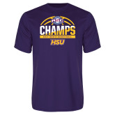 Performance Purple Tee-2017 ASC Champs - Mens Basketball Half Ball