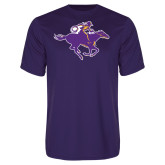 Performance Purple Tee-Cowgirl Riding
