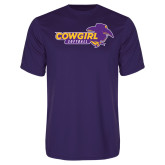 Performance Purple Tee-Cowgirls Softball