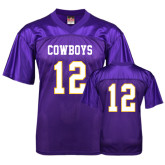 Replica Purple Adult Football Jersey-#12