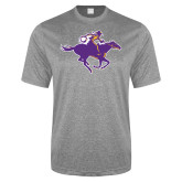Performance Grey Heather Contender Tee-Cowgirl Riding