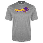Performance Grey Heather Contender Tee-Cowgirls Basketball