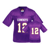 Youth Replica Purple Football Jersey-#12