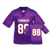 Youth Replica Purple Football Jersey-#88