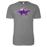 Next Level SoftStyle Heather Grey T Shirt-Cowgirl Riding