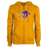 ENZA Ladies Gold Fleece Full Zip Hoodie-HSU Cowgirl