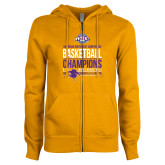 ENZA Ladies Gold Fleece Full Zip Hoodie-2017 ASC Champions - Mens Basketball Stacked