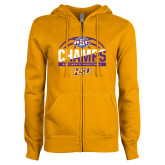 ENZA Ladies Gold Fleece Full Zip Hoodie-2017 ASC Champs - Mens Basketball Half Ball