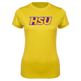 Ladies Syntrel Performance Gold Tee-HSU