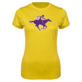 Ladies Syntrel Performance Gold Tee-Cowgirl Riding