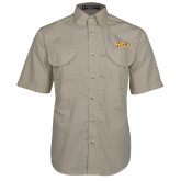 Khaki Short Sleeve Performance Fishing Shirt-HSU