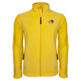 Fleece Full Zip Gold Jacket-HSU Cowboy