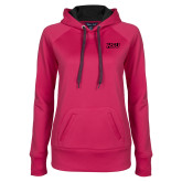 Ladies Pink Raspberry Tech Fleece Hoodie-HSU