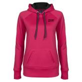 Ladies Pink Raspberry Tech Fleece Hoodie-HSU