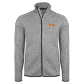 Grey Heather Fleece Jacket-HSU