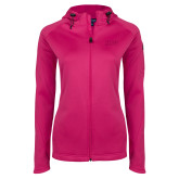 Ladies Tech Fleece Full Zip Hot Pink Hooded Jacket-HSU