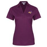 Ladies Purple Performance Fine Jacquard Polo-HSU Cowgirl