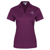 Ladies Purple Performance Fine Jacquard Polo-Cowgirl Riding