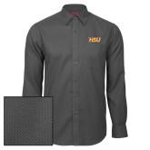 Red House Dark Charcoal Diamond Dobby Long Sleeve Shirt-HSU