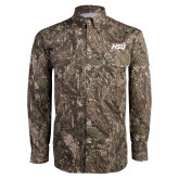 Camo Long Sleeve Performance Fishing Shirt-HSU