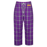 Ladies Purple/White Flannel Pajama Pant-HSU