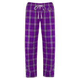 Ladies Purple/White Flannel Pajama Pant-Cowgirl Head