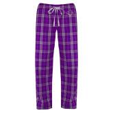 Hardin-Simmons Ladies Purple/White Flannel Pajama Pant-Cowgirl Head