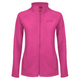 Ladies Fleece Full Zip Raspberry Jacket-HSU