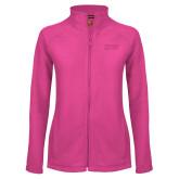 Ladies Fleece Full Zip Raspberry Jacket-HSU
