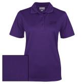 Ladies Purple Dry Mesh Polo-HSU