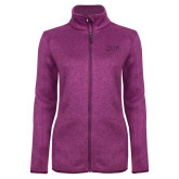 Dark Pink Heather Ladies Fleece Jacket-HSU