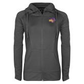 Ladies Sport Wick Stretch Full Zip Charcoal Jacket-HSU Cowgirl