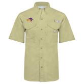 Columbia Bonehead Khaki Short Sleeve Shirt-HSU Cowboy