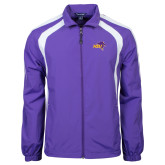 Colorblock Purple/White Wind Jacket-HSU Cowboy