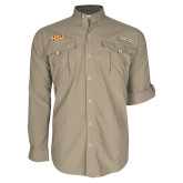 Columbia Bahama II Khaki Long Sleeve Shirt-HSU
